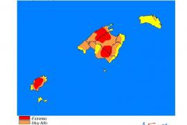 Riesgo extremo de incendios en la isla de Ibiza