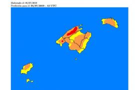 Ibiza se encuentra este viernes en riesgo de incendio muy alto o alto, según la Aemet