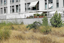 El solar junto al edificio Es Pla de Vila pertenece al Ministerio de Defensa