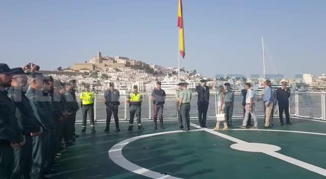 Patrullas mixtas y el buque oceánico 'Río Segura' para garantizar y aumentar la seguridad en las Pitiusas