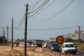 Las obras de la carretera de Santa Eulària sólo se han ejecutado en un 25%