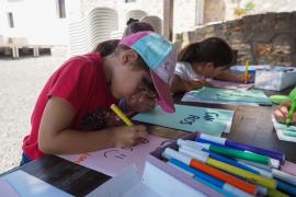 Los talleres infantiles en el Museu Etnogràfic d'Eivissa, en imágenes (Fotos: Marcelo Sastre).