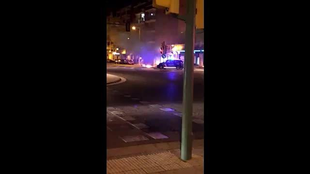 Arde una furgoneta en Eusebi Estada