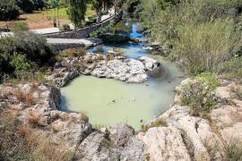 La sequía estanca el agua del río de Santa Eulària y genera malos olores