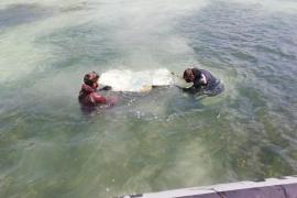 Se extraen 240 kg de residuos del fondo marino de la zona de Ses Figueres