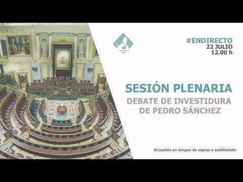 EN DIRECTO: Debate de investidura de Pedro Sánchez