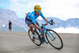 El ciclista colombiano Nairo Quintana (Movistar Team)