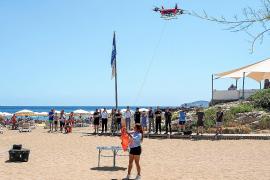 Un dron operará esta semana en la playa de es Figueral en labores de vigilancia y rescate
