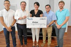 Aqualia entrega a Cáritas Ibiza una ayuda de 2.187 euros