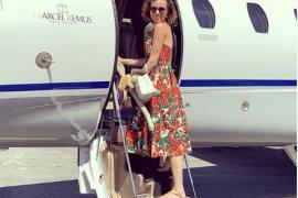 La supermodelo Eva Herzigova, de visita en Mallorca