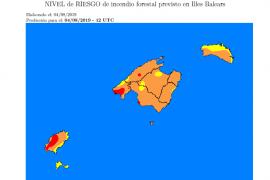 Riesgo extremo de incendios en Ibiza