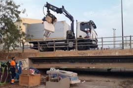 Desmantelado un asentamiento ilegal en el torrente de sa Llavanera