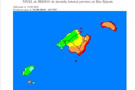 Riesgo muy alto de incendio en Formentera