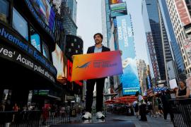 Javier Bardem en Times Square
