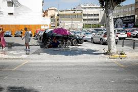 El Ayuntamiento de Eivissa asegura que las marcas viales sobre el asfalto se pintan cada año