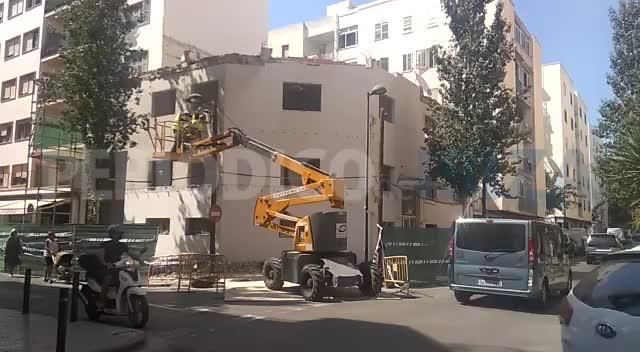 Arranca la última fase del derribo del antiguo retén de policía de Ibiza