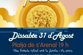 Las tortillas tomarán el sábado 31 de agosto la playa de s'Arenal de Sant Antoni