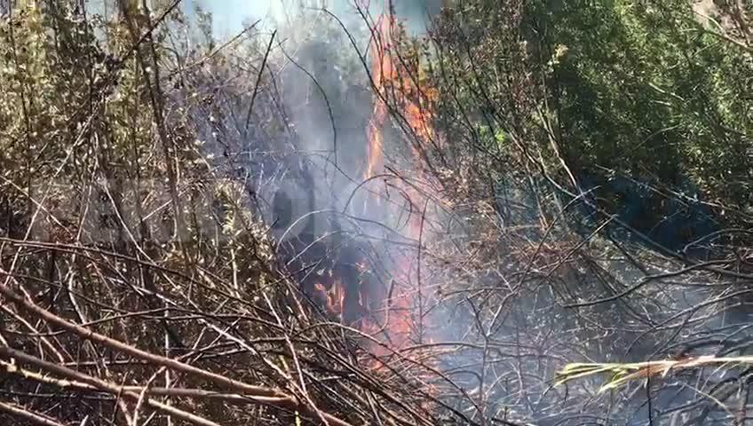 Alarma por un incendio en la carretera de Sant Joan