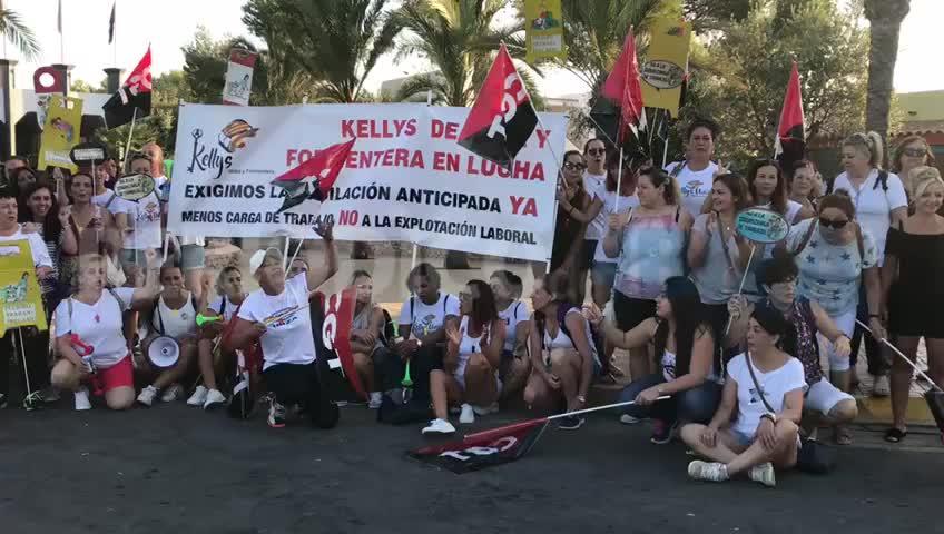 La huelga de camareras de piso tiene un seguimiento del 33% en Ibiza
