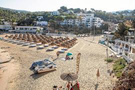 Un beach club de Cala Vedella ofrece hamacas en primera línea de playa por 150 euros al día