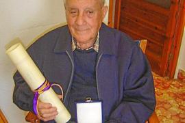 El Govern expresa su pésame por la muerte de Antoni Tur Ferrer, Medalla de Oro de Balears en 2006