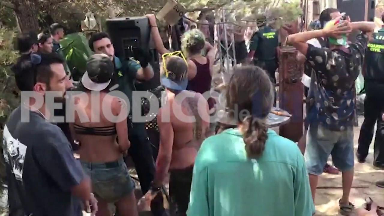Un centenar de agentes intervino en el operativo policial por la fiesta ilegal en Comte