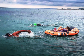 Hace casi dos meses, José Manuel López ya participó con Susana en un acuatlón