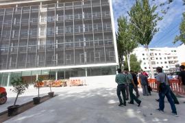 La visita a los nuevos juzgados de Ibiza, en imágenes .
