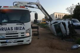 Aparatoso accidente en Ibiza