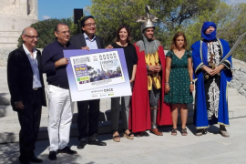 Cupón de la ONCE por las Fiestas del Rei en Jaume