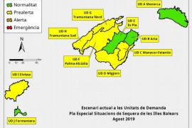 Las reservas hídricas bajan del 45% al 40% e Ibiza entra en prealerta por sequía