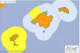 La AEMET activará el aviso naranja por tormentas este miércoles en Baleares
