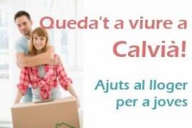 Cartel promocional de las ayudas al alquiler para jóvenes en Calvià