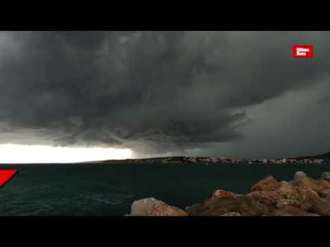 Jornada de 'caps de fibló', vientos de más de 100 km/h y lluvias de hasta 154 litros en Mallorca