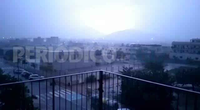 Temporal en las Pitiusas: inundaciones, atascos y tormenta eléctrica