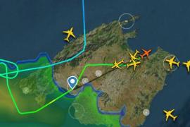 Cerrado el Aeropuerto de Palma por las fuertes tormentas
