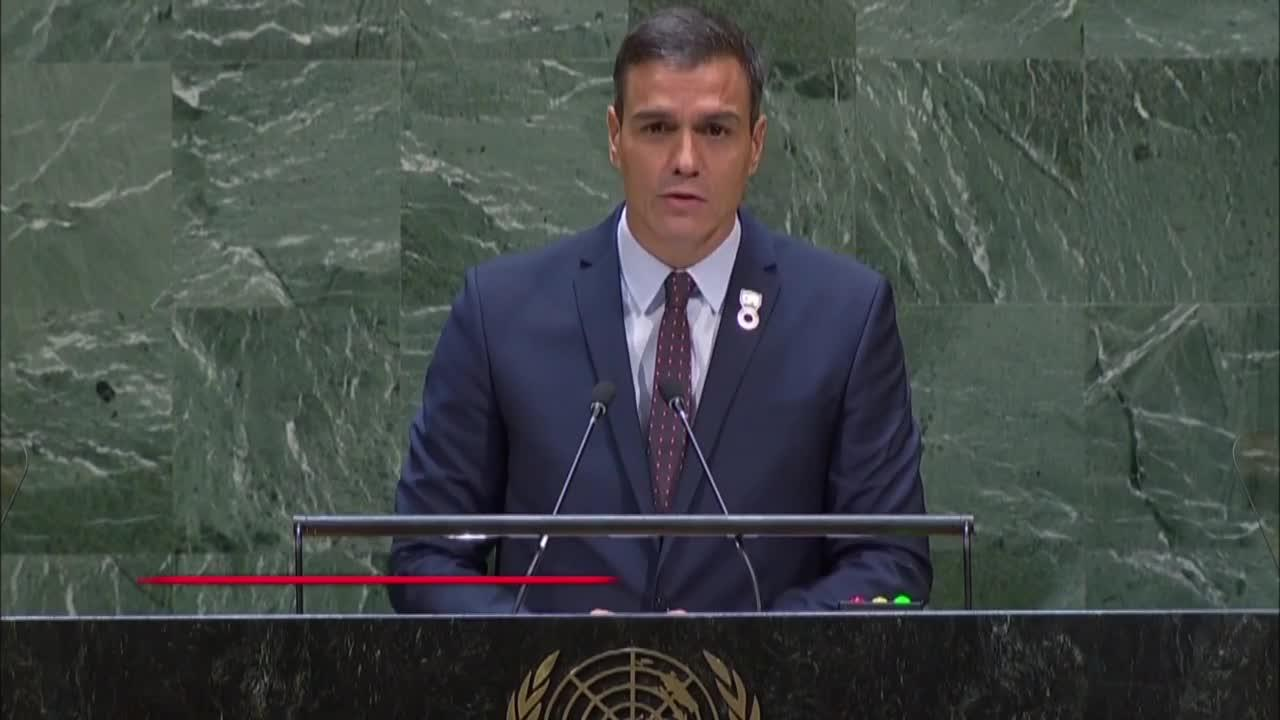 Sánchez reivindica en la ONU la exhumación de Franco:«Cerramos un capítulo oscuro de nuestra historia»