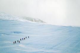 Expedición en la Antártida
