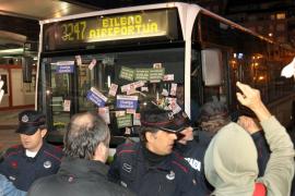 PRIMEROS INCIDENTES CON PIQUETES INFORMATIVOS EN BILBAO