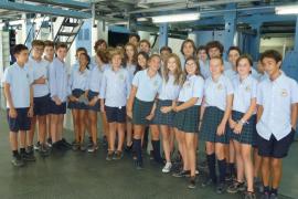 Alumnes de 2on de la ESO del Col. Ntra. Sra. de Montisión varen visitar les Instal·lacions del Grup Serra a Son Valenti