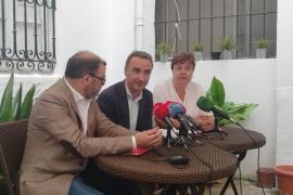 Los candidatos socialistas Cosme Bonet, Pere Joan Pons y Susanna Moll