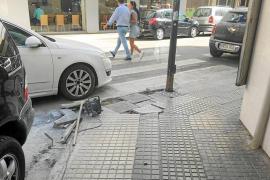 Obras sin señalizar en Vila