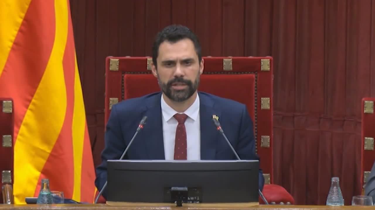 El Parlament rechaza la moción de censura de Cs contra Torra que solo respalda el PP