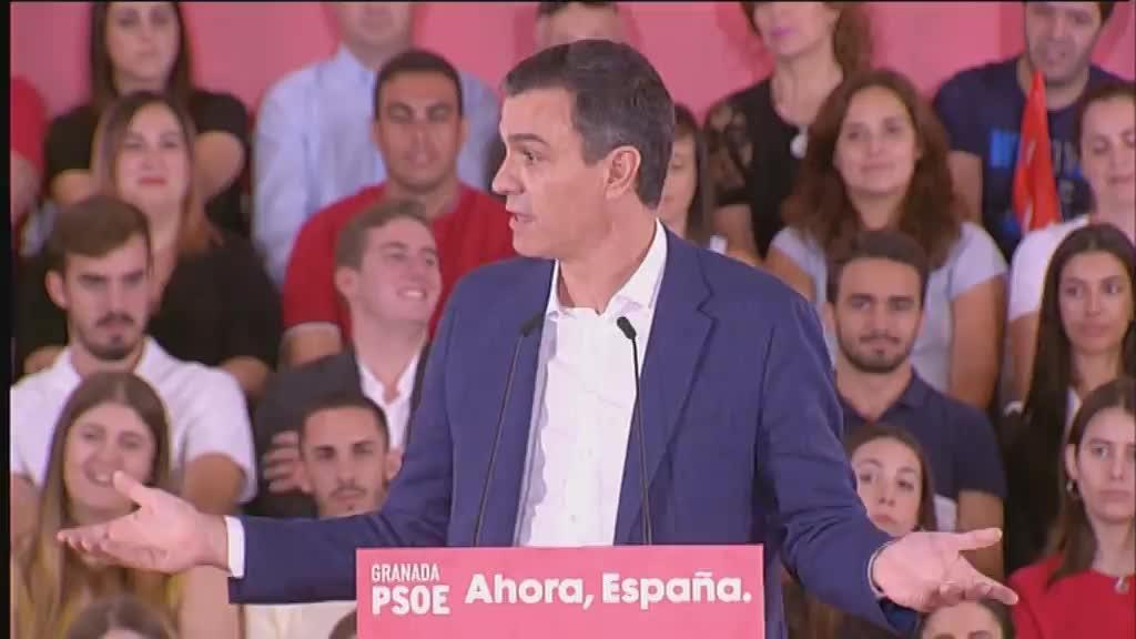 Pedro Sánchez: «El proyecto del PP es contaminar hasta que el planeta explote»