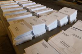 Papeletas y sobres de las elecciones generales del 10N