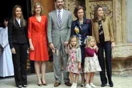 Los Reyes, los príncipes y doña Elena asistirán a la misa de Pascua en Palma