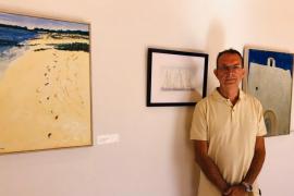 Ríos Beltrán pinta 'La isla infinita' que tanto ama y añora