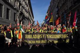 Protesta pensionistas en la Puerta del Sol