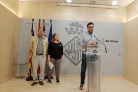 Antoni Noguera, en el Ajuntament de Palma