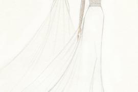 Este es el vestido de novia de Maria Francisca Perelló
